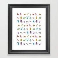 Glitter Animals C Framed Art Print