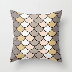 Vintage Silver Throw Pillow