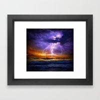 Illusionary Lightning Framed Art Print