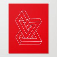 Optical Illusion - Impos… Canvas Print