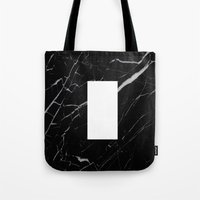 Black Marble - Alphabet I Tote Bag
