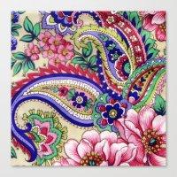 Floral Deco Canvas Print