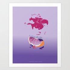 sences tangerine jelly purple Art Print