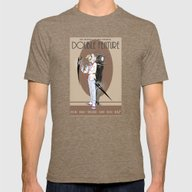 TPoH: Double Feature Mens Fitted Tee Tri-Coffee SMALL