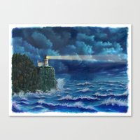 Split Rock Lighthouse, D… Canvas Print