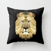Polygon Heroes - The Kin… Throw Pillow