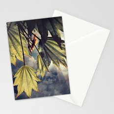 full moon maple sky Stationery Cards