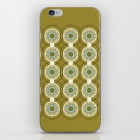 Vintage: Olive Circles iPhone & iPod Skin