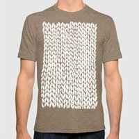 Hand Knitted Loops Mens Fitted Tee Tri-Coffee SMALL