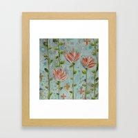 Flowering vines Framed Art Print