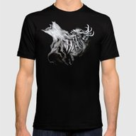 A Forest's Death Mens Fitted Tee Black SMALL