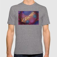 Groovey Hearts -- Happy Abstract Mens Fitted Tee Tri-Grey SMALL