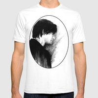 DARK COMEDIANS: Jim Carrey Mens Fitted Tee White SMALL