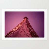 Purple Eiffel  Art Print
