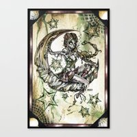 Champagne Of The Dead Canvas Print
