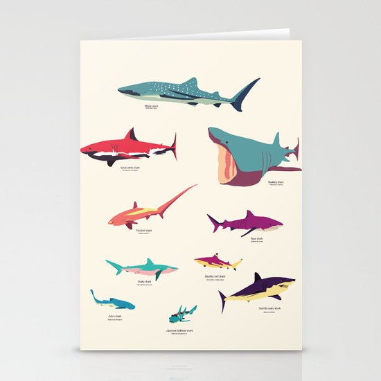 Sharks Stationery Card