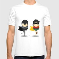 Heroes & super friends! Mens Fitted Tee White SMALL