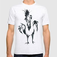 angry chicken Mens Fitted Tee Ash Grey SMALL