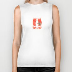 Mister Fox in love Biker Tank