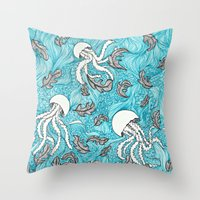 Jelly Leaves Throw Pillow