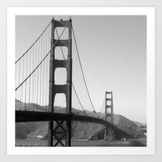 Square Golden Gate Art Print