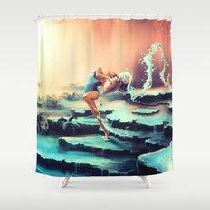 AQUARIUS from the Dancing Zodiac Shower Curtain