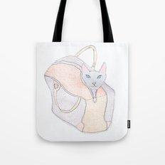 cat in a bag Tote Bag