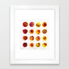 Sherbert Dot Framed Art Print