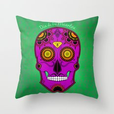 dia de los muertos (sugar skull) Throw Pillow