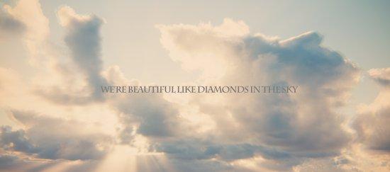 We're beautiful like diamonds in the sky Art Print