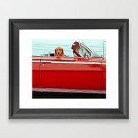 One cool dog Framed Art Print