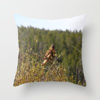 Red-tailed Hawk in the Tetons Throw Pillow