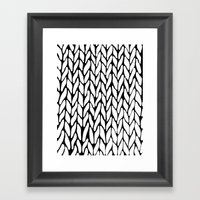 Hand Knitted Framed Art Print