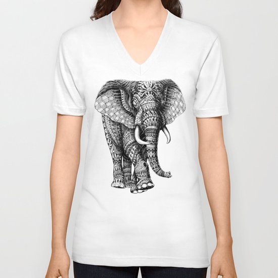 Ornate Elephant v.2 V-neck T-shirt