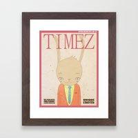 TIMEZ MAGAZINE HUG Framed Art Print
