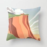 Fairy Landscape Throw Pillow