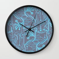 1982 Blue Wall Clock