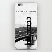 Golden Gate Bridge - San… iPhone & iPod Skin