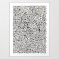 Web Pattern Art Print