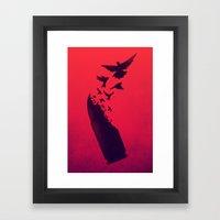 Bullet Birds Framed Art Print