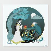 Snowhite And The Evil Wi… Canvas Print