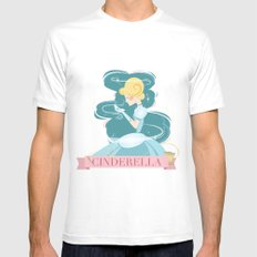 Cinderella Mens Fitted Tee White SMALL