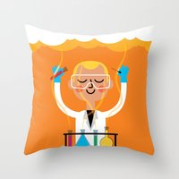 Throw Pillow featuring Science is Fun by Mouki K. Butt