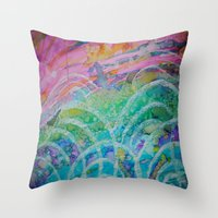 Throw Pillow featuring Elation by Renee Trudell