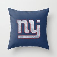 New Jersey Football Gian… Throw Pillow