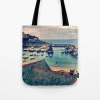 Grey Clouds Above The Fe… Tote Bag