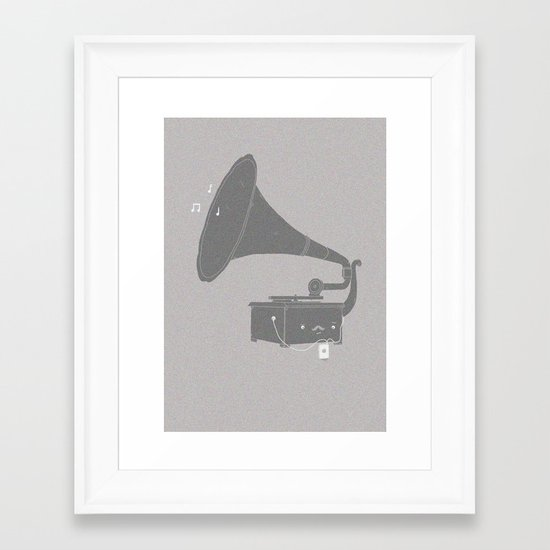 Get with the times Framed Art Print