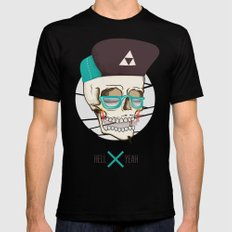 Hell Yeah Skull Mens Fitted Tee Black SMALL