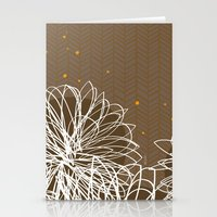 Brown Doodle Floral By F… Stationery Cards