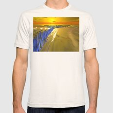 Arctic Fractal Glacier Mens Fitted Tee Natural SMALL